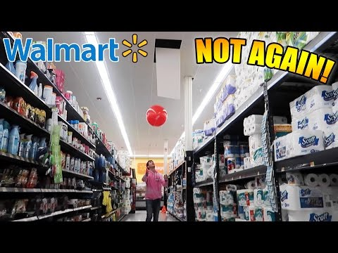 WE BROKE THE CEILING AT WALMART! (TRYING TO GET KICKED OUT OF WALMART)