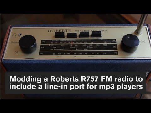 Modding a Vintage Roberts R757 radio to carry a 3.5mm line-in port for an MP3 player