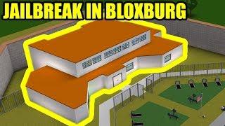 I built a FULL SIZE JAILBREAK PRISON in BLOXBURG!!!   Roblox Jailbreak in Bloxburg
