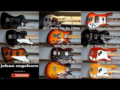 Download Youtube: 11 Basses Comparison - Shoot Out - Rickenbacker Vs Gretsch Vs Fender Vs Gibson and MORE
