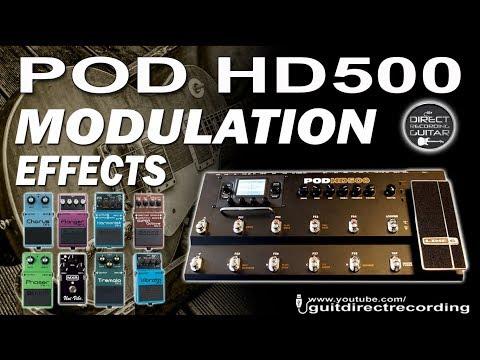 POD HD500 MODULATION Effects [All Modulations] GUITAR PATCHES USB Rec.