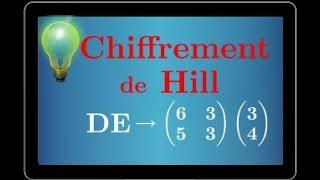 Chiffrement de Hill - coder et décoder un message - matrices et congruences - terminale S spé