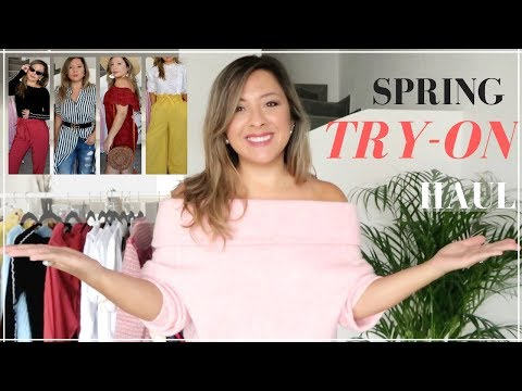 SPRING 2018 TRY-ON HAUL | ZARA, H&M, MANGO, MAJE and more | La Vie en Chic