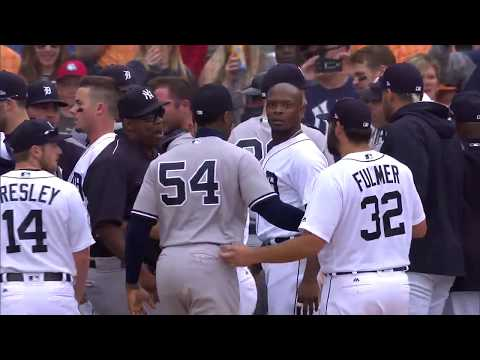 Detroit Tigers vs. New York Yankees - Benches Clear - 8.24.17