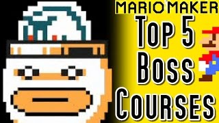 Super Mario Maker Top 5 BOSSES Courses (Wii U)