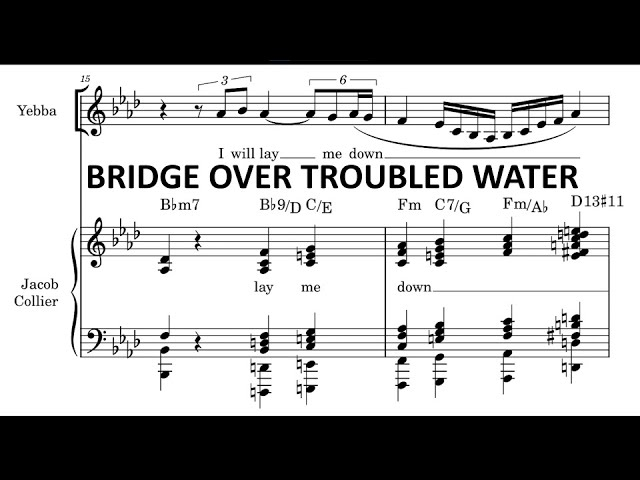 Bridge Over Troubled Water- Yebba & Jacob Collier [Transcription]