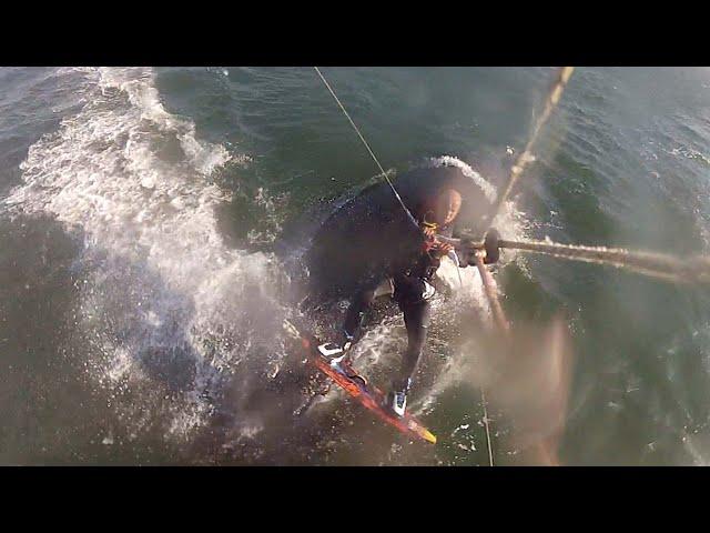 Shocked Kiteboarder Hits Humpback Whale