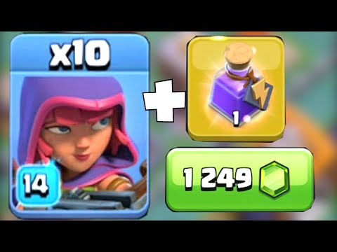 MAX LVL 14 ARCHER GLITCH!?! | Clash Of Clans | MAIDEN TROLLS BARBS!