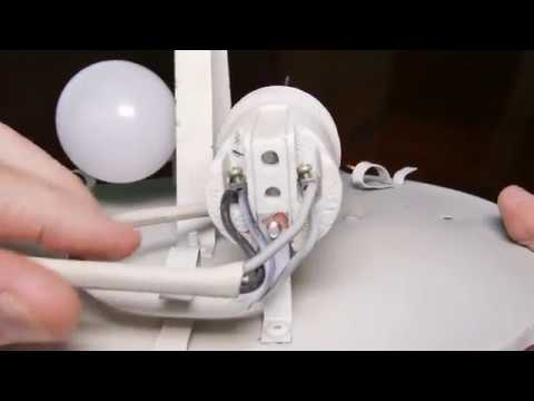 Convert Round Tube Fluorescent Fixture To Screw Type Led