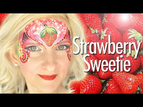 Strawberry Sweetie Face Painting Tutorial