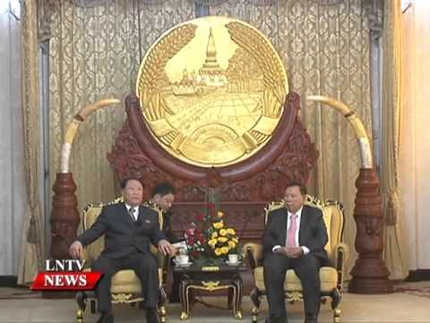 Lao NEWS on LNTV: Vice President Bounnhang Vorachit receives DPRK guest.9/3/2016