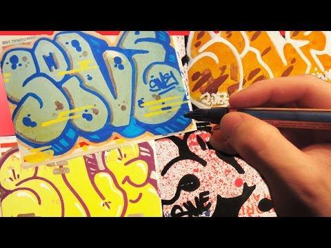 Renewed Patterned Postal Throwie Graffiti Speed Art