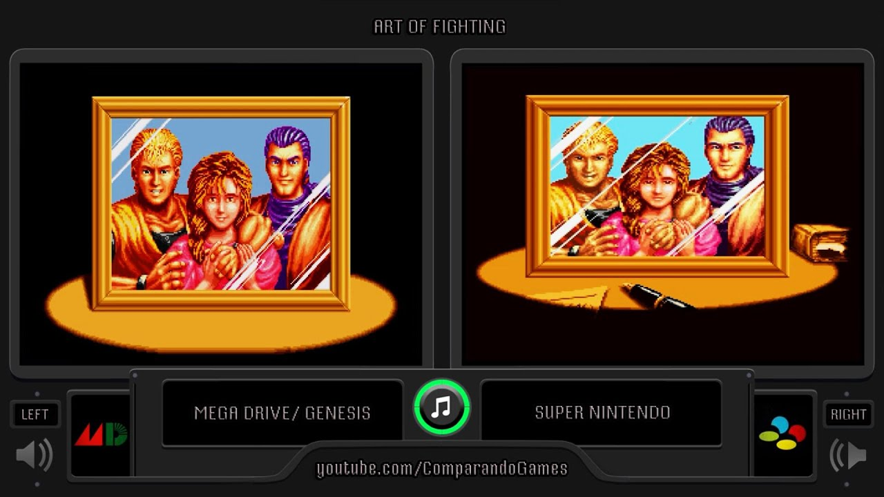 Art Of Fighting Sega Genesis Vs Snes Side By Side Comparison