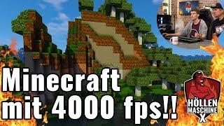 Minecraft mit 4000 fps und in UHD/4K auf der Höllenmaschine X | #GamingPC #Verlosung #Giveaway