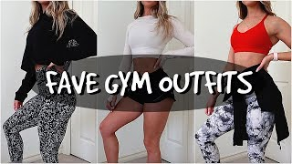 MY FAVE GYM OUTFITS //  Lululemon, Alphalete, Til You Collapse, American Eagle & more!