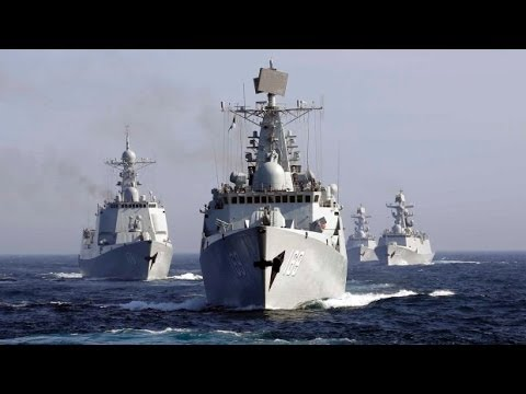 Power from China why the Latest 052C Missile destroyer lined into formation of ship EAST SEA FLEET