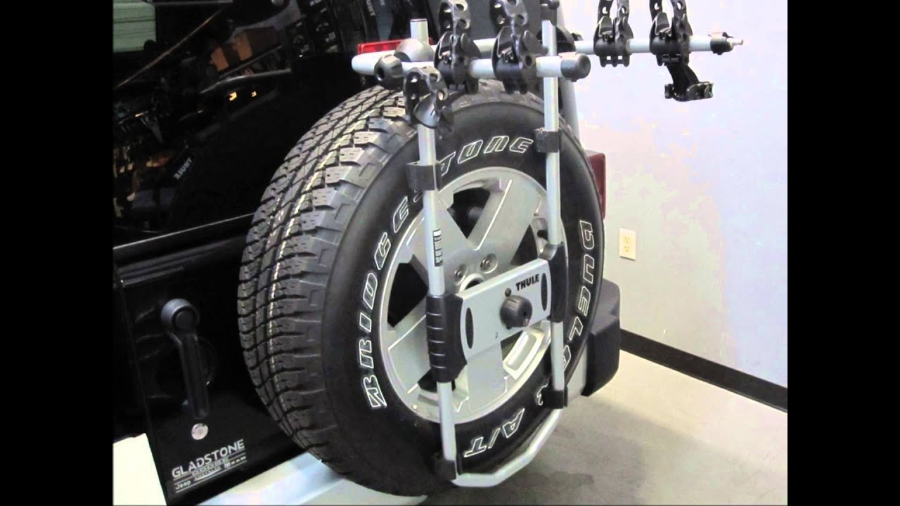 Jeep Wrangler Unlimited Spare Tire Bike Rack Thule Spareme