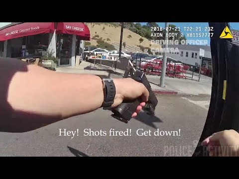 Bodycam Footage Shows Police Shootout in Los Angeles, California