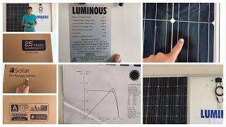 Luminous mono solar panel   price review specifications