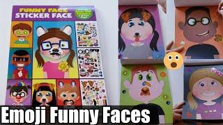 Funny Face Emoji Sticker Book