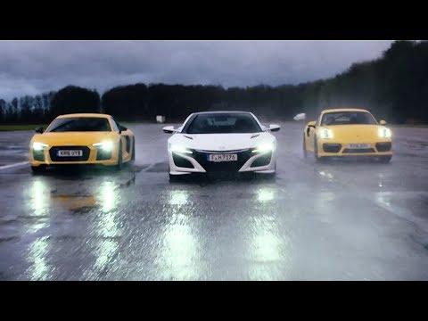 Honda NSX vs Audi R8 V10 vs Porsche 911 Turbo - Chris Harris Drives - Top Gear