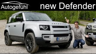 all-new Land Rover Defender FULL REVIEW onroad offroad P400 vs D240 comparison L663 115 2020