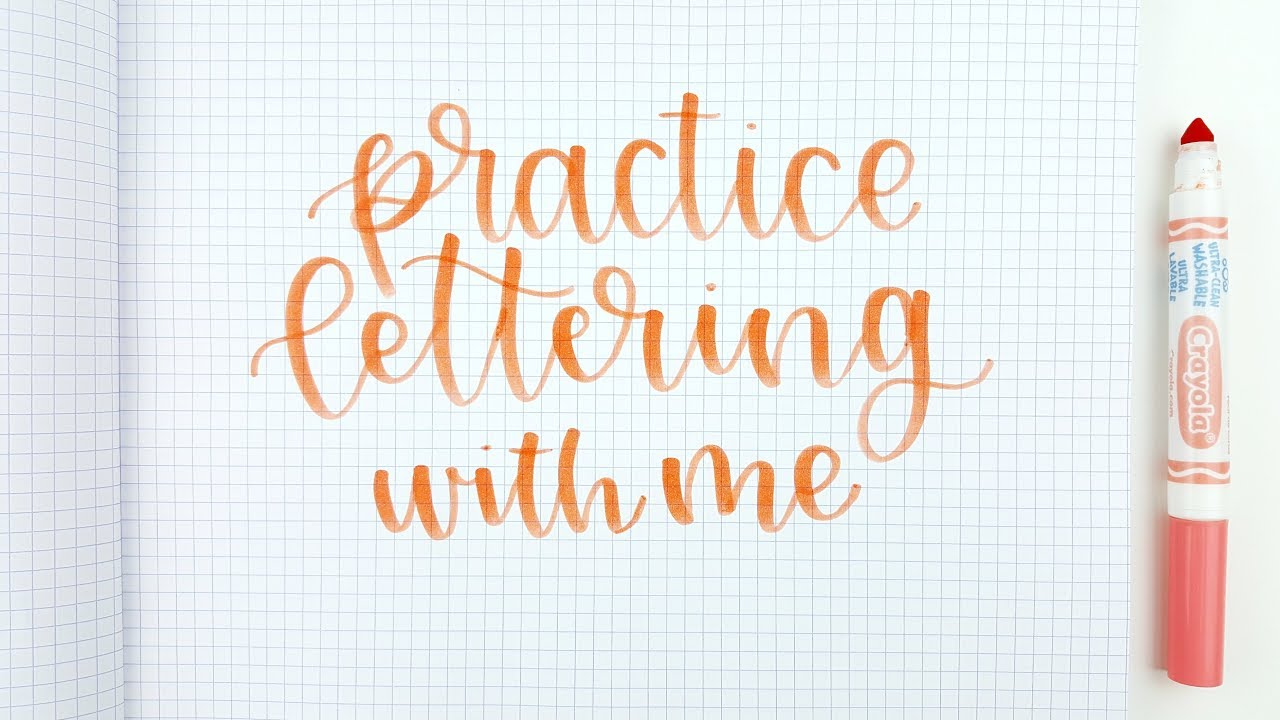 Handlettering Practice Ideas for Beginners with Brush Pens | How to Hand  Letter | Letter With Me!