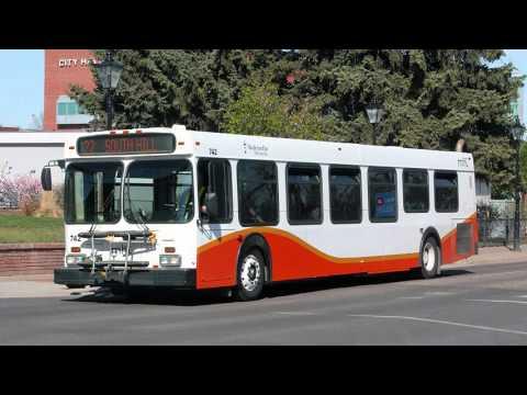 (AUDIO recording) Medicine Hat Transit 2002 New Flyer D40LF Detroit Diesel Series 50 EGR