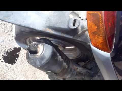 скутер honda dio течет масло из выхлопной