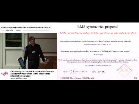 Antonio Marcianò : Kac-Moody instantons in space-time forma as an alternative solution to the ...