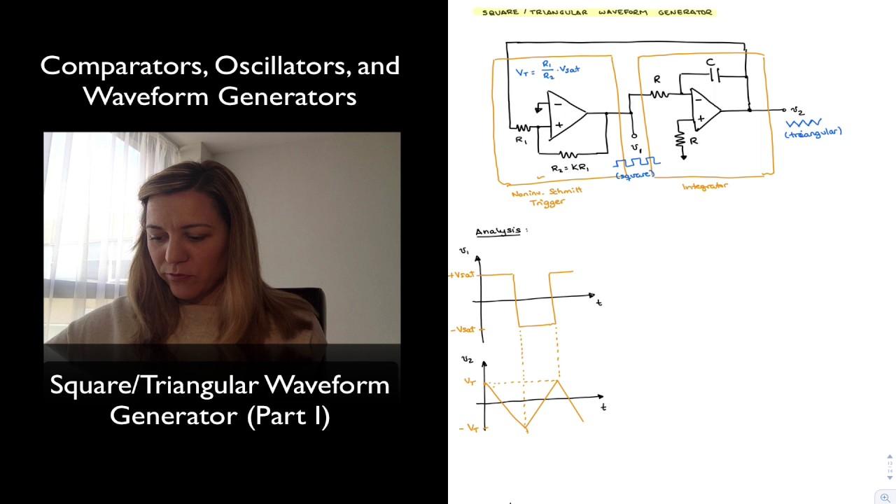 Square Triangular Waveform Generator Youtube Wave Circuit