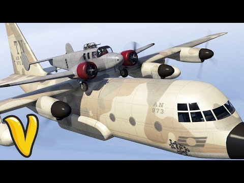 GTA 5 Online :: STUNTS IN MISSIONS!! :: Smuggler's Run Jobs & Funny Moments