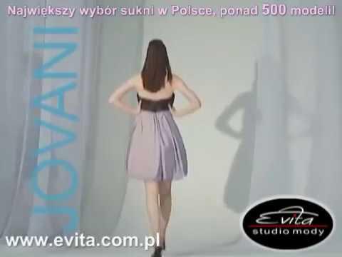 1568a61a81 suknie wieczorowe EVITA - YouTube
