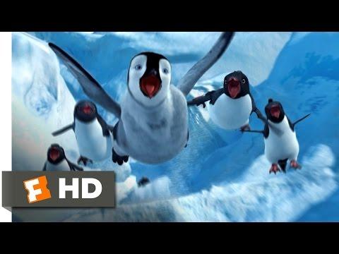 Happy Feet (4/10) Movie CLIP - Sliding Down the Ice (2006) HD