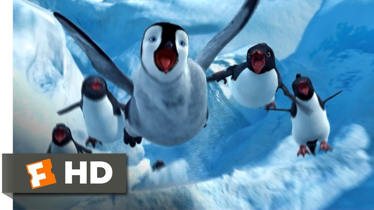 happy feet (4/10) movie clip - sliding down the ice (2006) hd - youtube