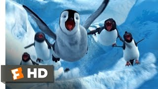 Happy Feet (4/10) Movie CLIP - Sliding Down the Ice (2006) HD