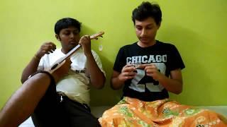 Ei Meghla Dine Ekla   Hemanta Mukherjee   Instrumental   Ft. Ritesh & Pritam   Mouth Organ & Ukulele