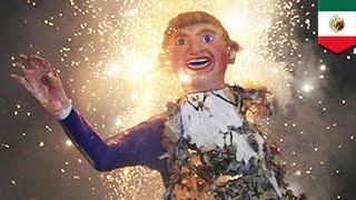 MEXICO CITY — Paper mache effigies of GOP 2016 presidential nominee...
