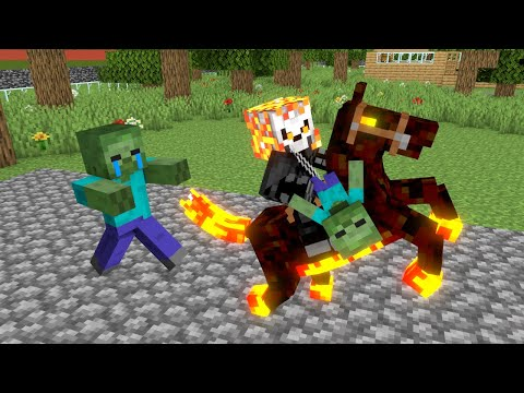 Monster School : Ghost Rider - Minecraft Animation