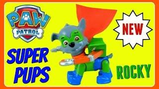 Paw Patrol Super Pups ROCKY!  NEW 2016 PAW PATROL SUPER PUPS!