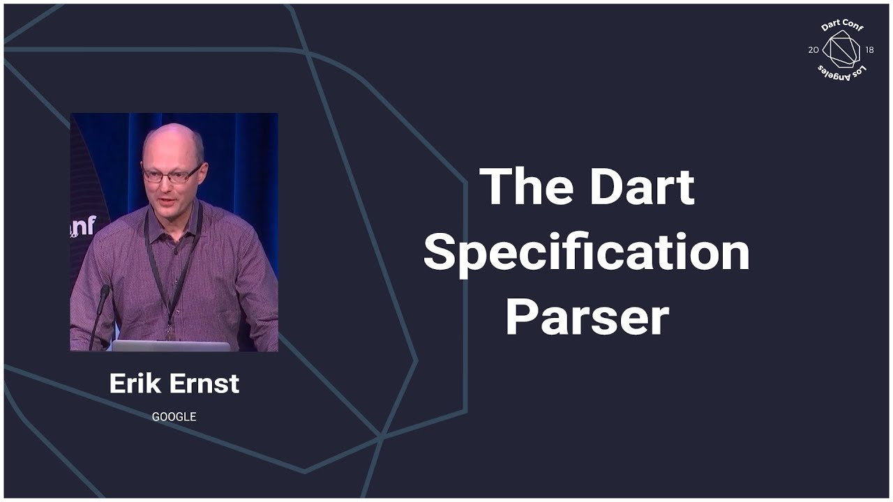 The Dart Specification Parser (Dart Conference 2018)