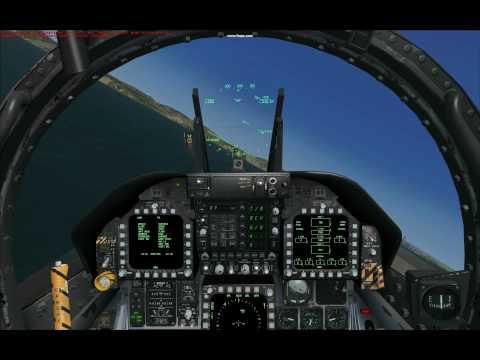 FSX Sludge Hornet flying USN Carrier Pattern