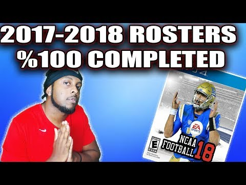 2017-2018 Roster 100% Complete! NCAA Football 14 Updated Rosters for 2017-2018 Season