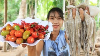 Yummy cooking Octopus with Tomato recipe - Cooking skill