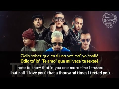 Te Bote Remix -  English  Spanish