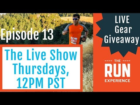 "🔴 Live Giveaway! Marathon/Half Training Plans, Running Shorts and Training ""Food""  TRE Live Ep. 13"