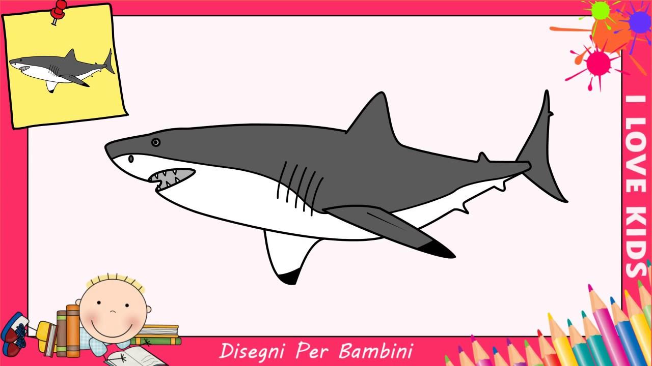 disegni di squali facili per bambini come disegnare uno