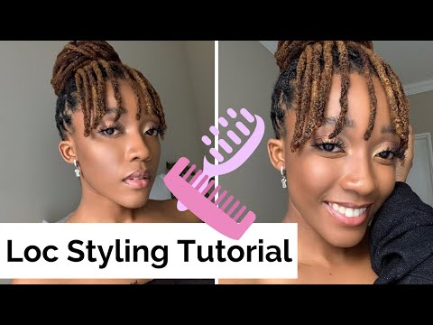 quick-and-easy-loc-style-i-locs-styles-for-women-i-loc-tutorial-i-miss-kobeli