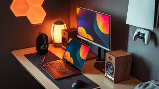 MSI Creator Z16 & Budget Monitor Modern MD241PW   The SUPER Laptop Setup! + GIVEAWAY!