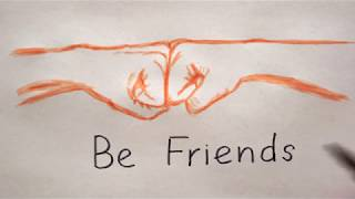 Ghetto Faus zeichnen - Be Friends Drawing - How to draw fist bump / pound
